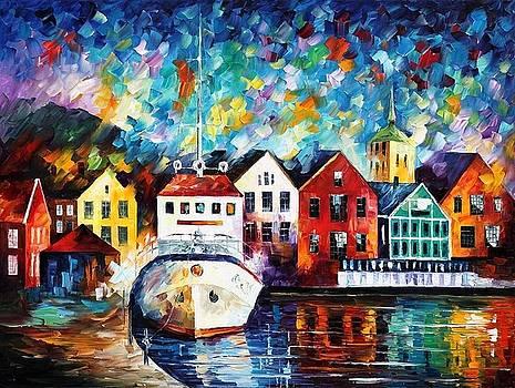 Denmark - PALETTE KNIFE Oil Painting On Canvas By Leonid Afremov by Leonid Afremov