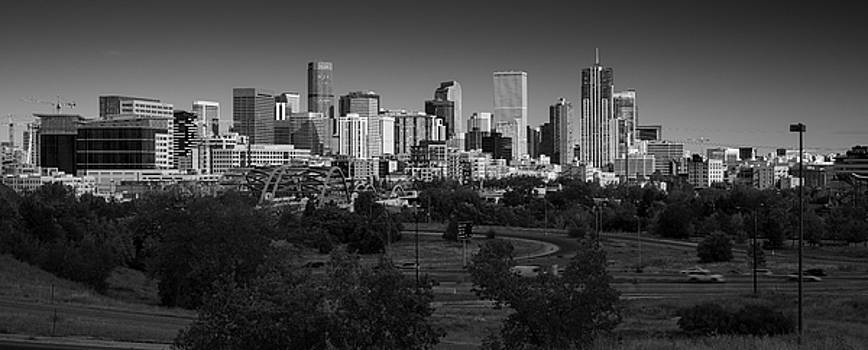 Denver CO Skyline B W by Steve Gadomski