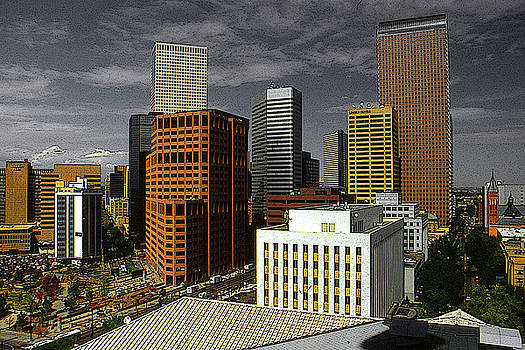 Denver Colorado Downtown Skyline by Art America Gallery Peter Potter