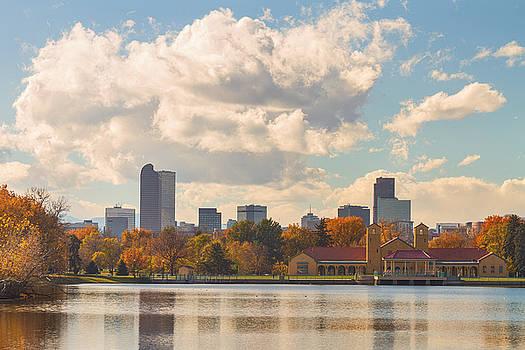 James BO  Insogna - Denver Colorado Skyline Autumn View