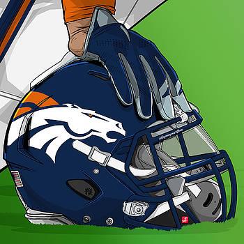 Denver football by Akyanyme