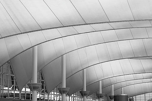 Denver International Airport Roof B W by Steve Gadomski