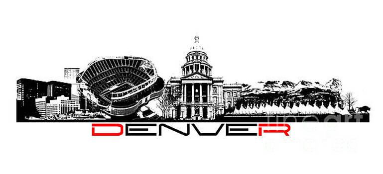 Justyna Jaszke JBJart - Denver skyline city black