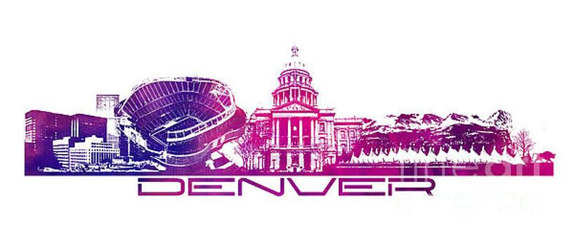 Justyna Jaszke JBJart - Denver skyline city purple