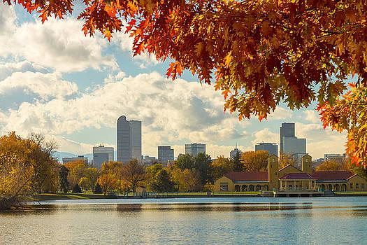 James BO  Insogna - Denver Skyline Fall Foliage View