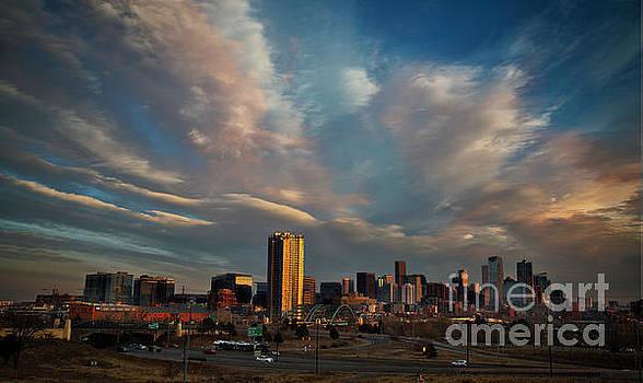 Denver Skyline on New Year's Day by Kristal Kraft