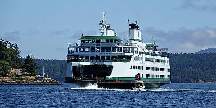 Departing Friday Harbor by Rick Lawler