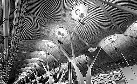 Departure Lounge Madrid Airport by Gary Gillette