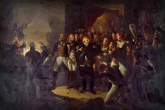 Departure Of Louis Xviii From The Palace  by Gros AntoineJean
