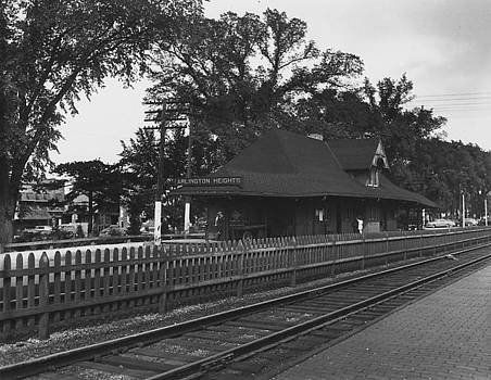 Chicago and North Western Historical Society - Depot in Arlington Heights Illinois - 1952