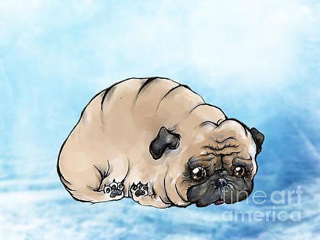 Depressed Pug by Angel Ciesniarska