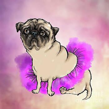 Depressed Tutu Pug by Angel Ciesniarska