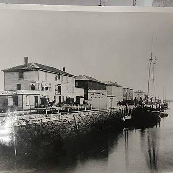 Derby Wharf In The Mid 1800s When The by Jeff Foliage