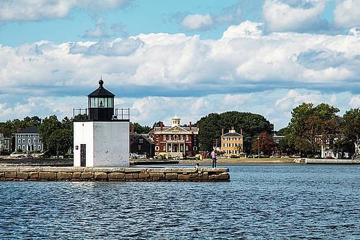 Derby Wharf Light and Custom House by Jeff Folger