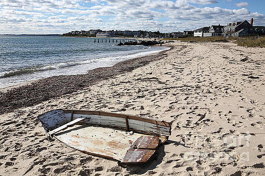 Derelict  boat, Falmouth Beach by Bryan Attewell