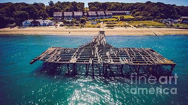 Derelict Railway Pier Isle Of Wight Low angle by Owen Hunte