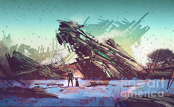 derelict ship by