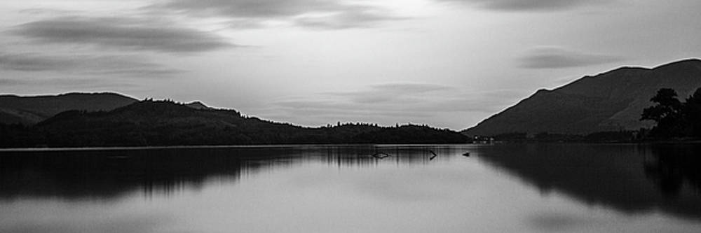 Derwent Water silhouettes by Russell Millner