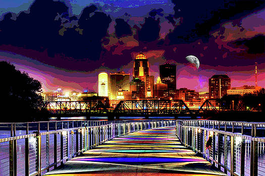 Mary Clanahan - Des Moines Grays Bridge Nightscape