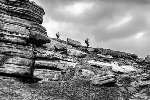 Descending Kinder Scout by Nick Bywater