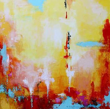 Descending Lights 2 by M Diane Bonaparte