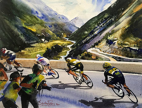 Descending the Alps by Shirley Peters