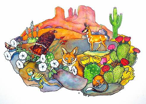 Desert Animals by Jill Iversen