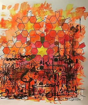 Desert Cityscape by Yvonne Ayoub