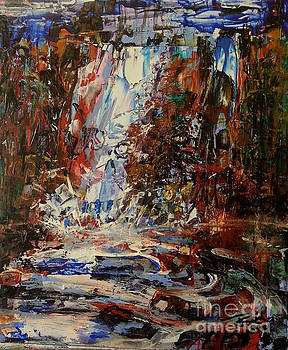 Desert Oasis Waterfall by Reed Novotny