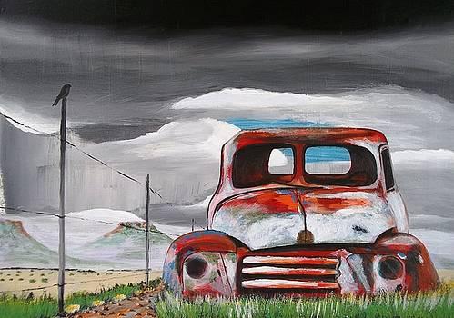 Desert Plains - Rusted Pickup by Paul Bokvel Smit