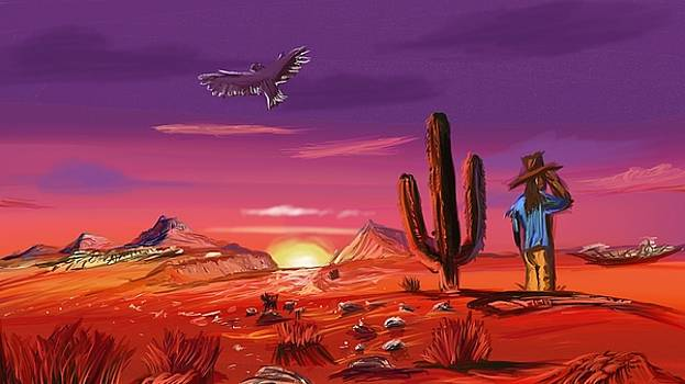 Desert Scene by Luke Aldington
