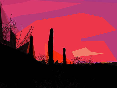 Desert Sunset in Tucson by Rick Thiemke