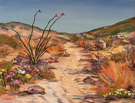 Desert Trail with Ocotillo by Robert Gerdes
