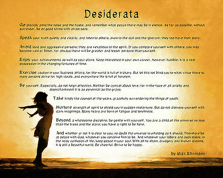 Desiderata - Child Of The Universe by Mark Tisdale