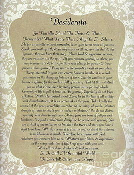Desiderata on Burlap and Lace by Desiderata Gallery