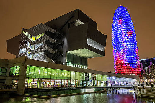 Design Museum and Torre Agbar, Barcelona by Martin Williams