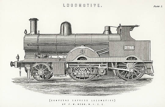 Design of an engine train and its compartments by Francis William Webb