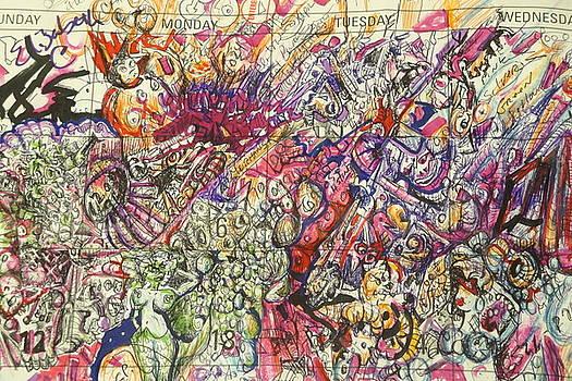 Desktop Calender Doodle by Steven Holder