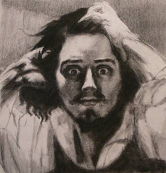 Desperate Man after Courbet self portrait by Irena  Jablonski