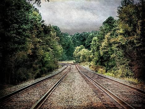 Destination Unknown, Travel Journey Train Tracks by Melissa Bittinger