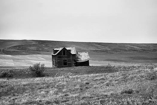 Destitute on the prairie by Jeff Swan