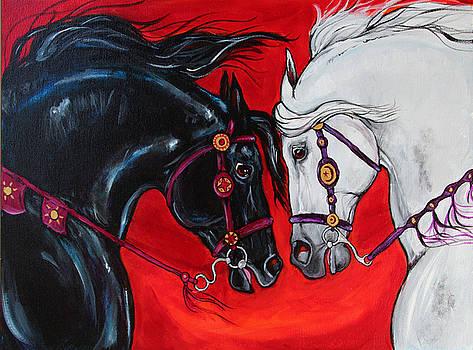 Destriers by Helen Scanlon