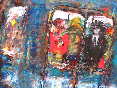 Rochelle Mayer - Detail from The train ride