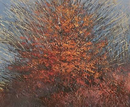 Detail from Three Winter Trees by Sean Conlon