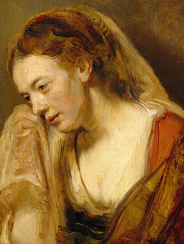 Rembrandt - Detail of A Weeping Woman
