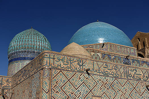 Reimar Gaertner - Detail of blue domes of ancient Khoja Ahmed Yasawi Mausoleum in
