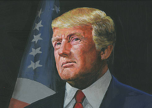 Detail of President Trump by Harold Shull