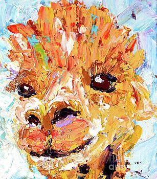 Detail of Shorn Alpaca. Where's My Fleece? by Lynda Cookson