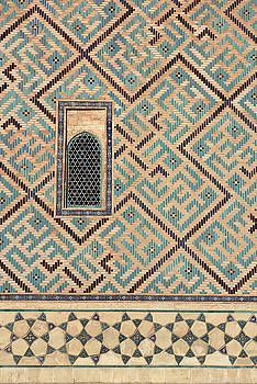 Reimar Gaertner - Detail of window and geometric patterns on Khoja Ahmed Yasawi Ma
