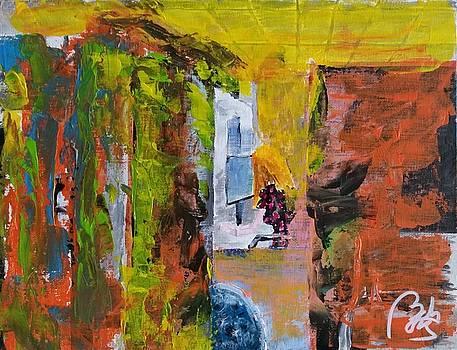 Detritus I Woman working by Bachmors Artist